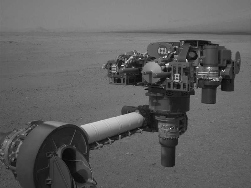 NASA's Curiosity Studies Mars Surroundings, Nears Drive